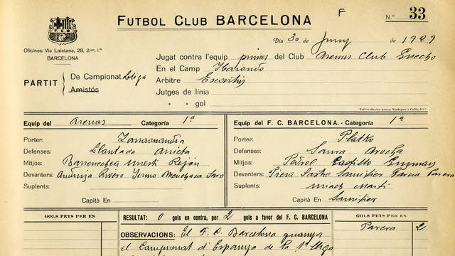 1929. Barça Wins the First Ever League