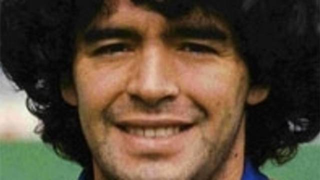 Portrait of Maradona