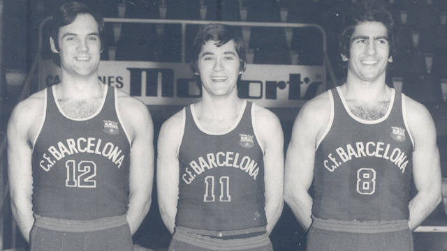 old picture of barcelona basketball players