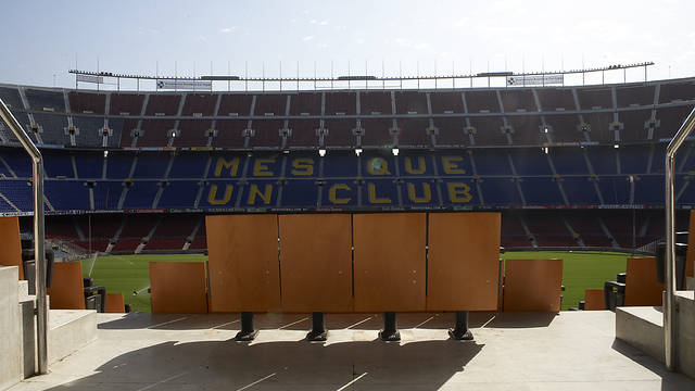 Camp Nou view from the presidential area