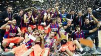 Foto del Barça Regal celebrando la liga 2010-2011