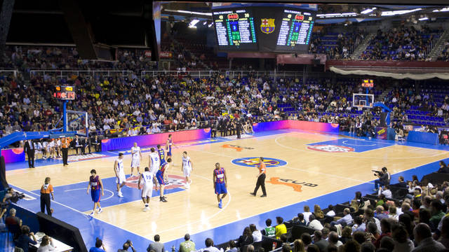 a game being played in the Palau Blaugrana