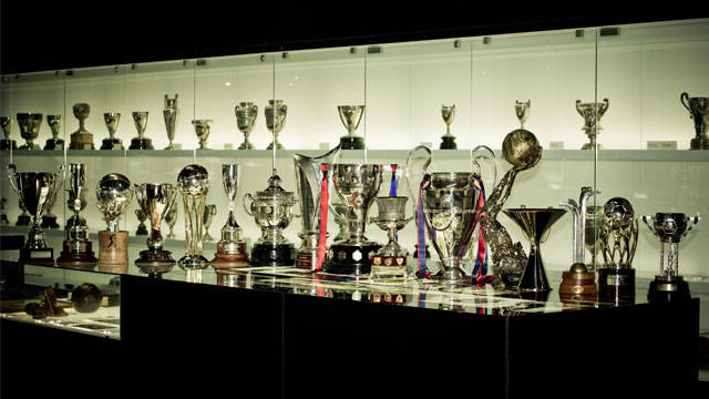 the very full barcelona trophy cabinet