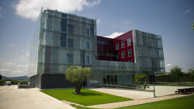 The outside of the new Masia