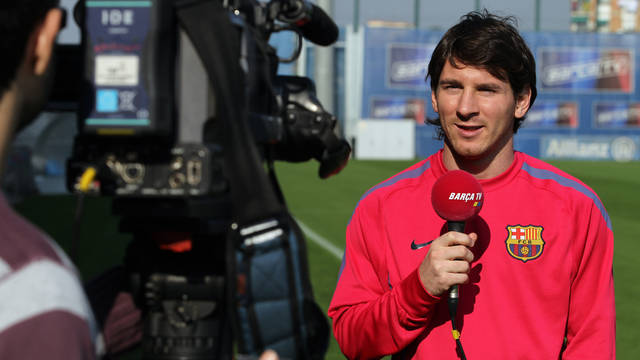 Leo Messi on  Barça TV