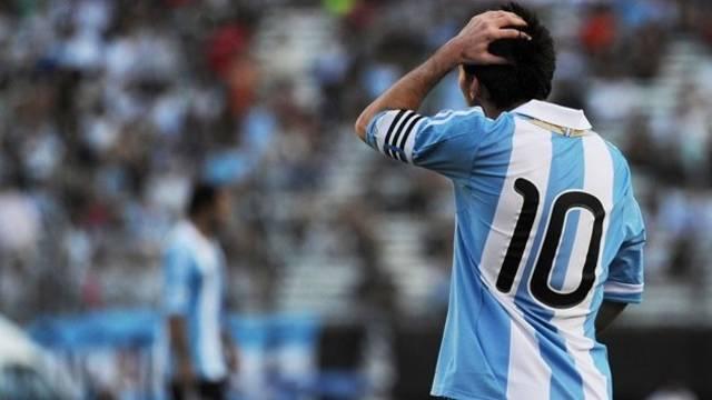 Messi, amb l'Argentina / FOTO: Arxiu FCB