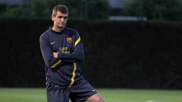 Vilanova, during a training session / PHOTO: ARXIU FCB