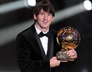 Messi wins the Ballon d'Or 2010