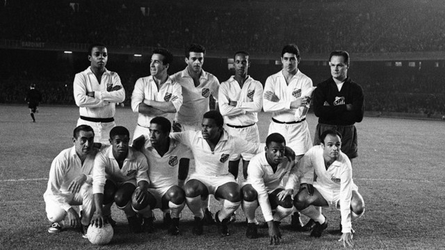 Pelé's Santos FC at the Camp Nou on June 12th, 1963