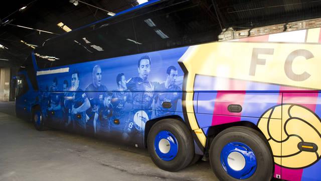 El nuevo autocar oficial del FC Barcelona / FOTO: ÀLEX CAPARRÓS - FCB