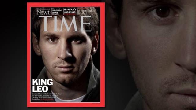 Messi on the cover of TIME magazine