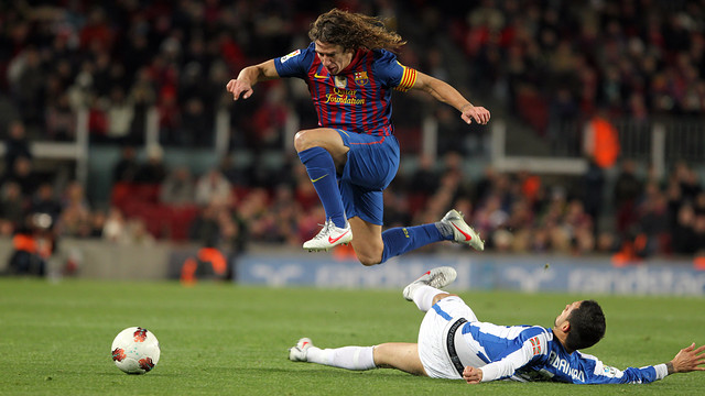 Puyol against Real Sociedad /PHOTO: MIGUEL RUIZ -FCB