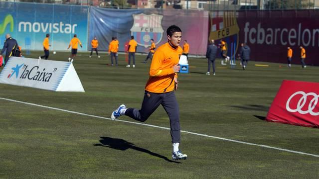 Afellay back training on field / PHOTO: MIGUEL RUIZ - FCB