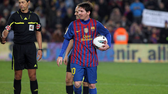Messi scored four goals against Valencia / PHOTO: MIGUEL RUIZ - FCB