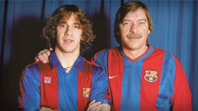 Puyol i Migueli, el 2003, en un reportatge per a la REVISTA BARÇA. FOTO: arxiu FCB.