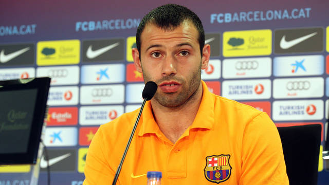 Mascherano / PHOTO: MIGUEL RUIZ - FCB