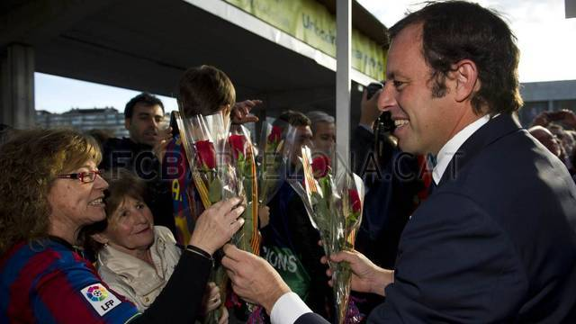 Sant Jordi at the Camp Nou / PHOTO: LEX CAPARRS - FCB