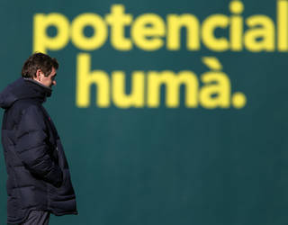 Tito Vilanova, en un entrenamiento / FOTO: ARXIU FCB
