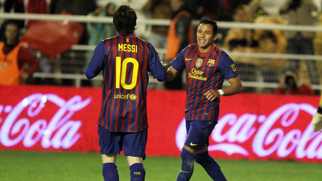 Messi and Alexis / PHOTO: MIGUEL RUIZ - FCB