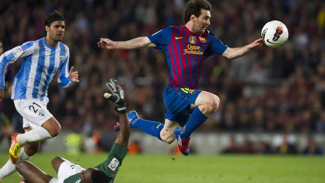 Messi's third goal. PHOTO: ÀLEX CAPARRÓS-FCB.