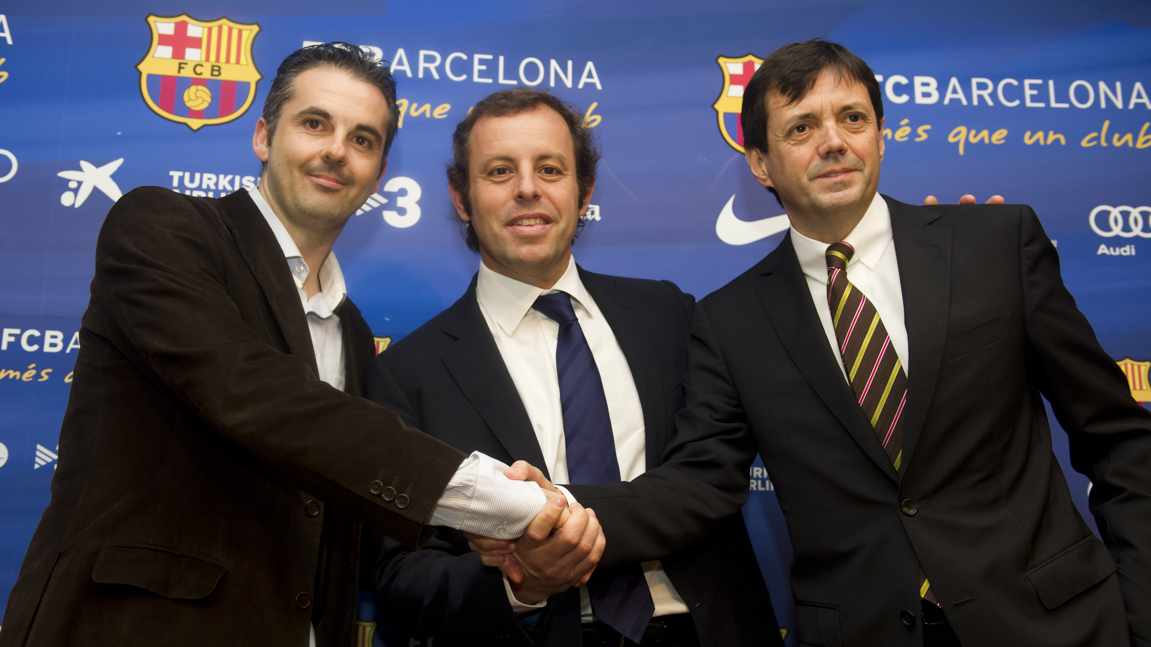 Imatge de Beto Borregán, Sandro Rosell i Ramon Cierco