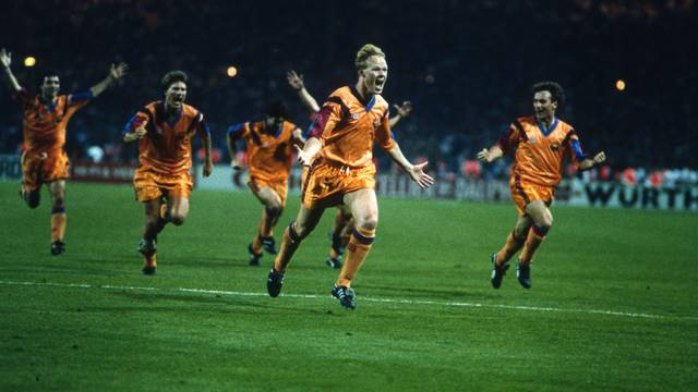 Ronald Koeman celebrates his title-winning goal / PHOTO: MARK LEECH