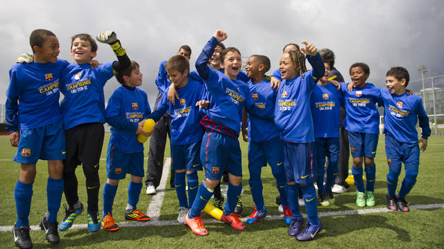 The Benjamí C after winning the Liga title / PHOTO: ÀLEX CAPARRÓS - FCB