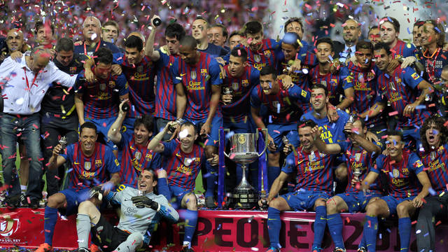 El FC Barcelona, campi de la Copa del Rei 2012 