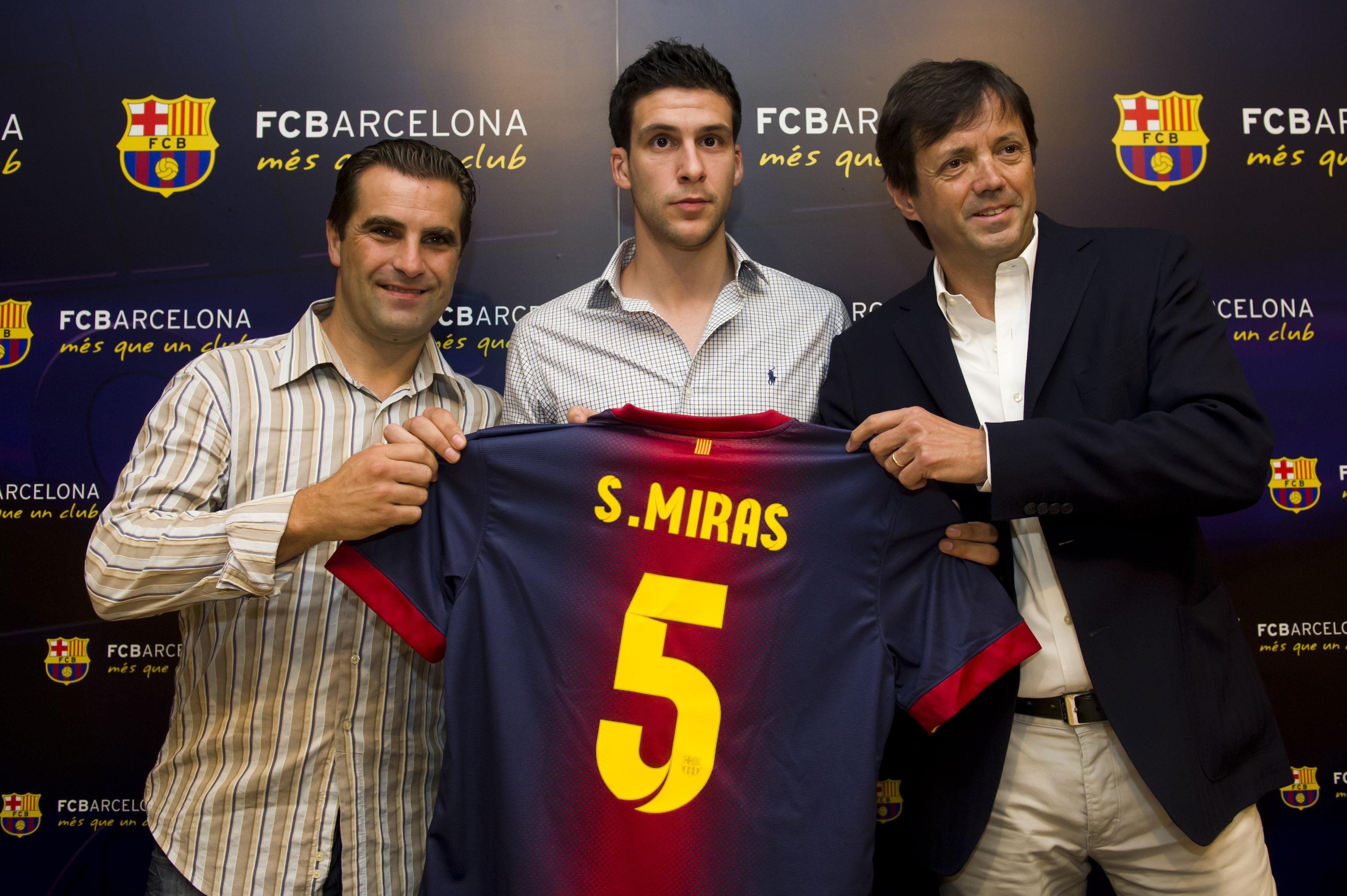 Sergio Miras és presentat com a nou jugador del FC Barcelona
