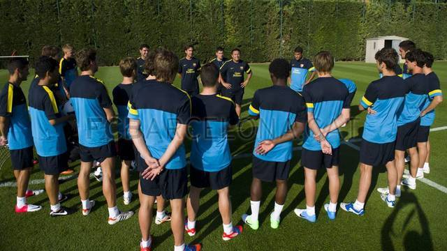 Primer entrenament del Bara B / FOTO: LEX CAPARRS - FCB