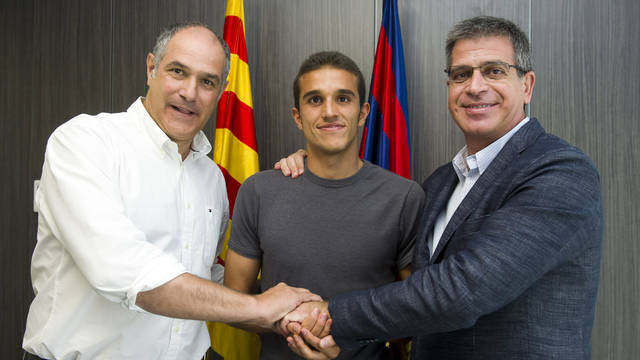 Jordi Masip amplia el contracte fins al 2015 / FOTO: LEX CAPARRS - FCB