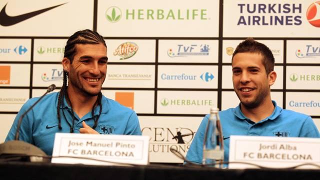 Pinto i Alba, a Bucarest. FOTO: MIGUEL RUIZ-FCB.
