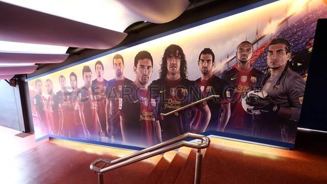Camp Nou Unveils Remodeled Dressing Room Tunnel