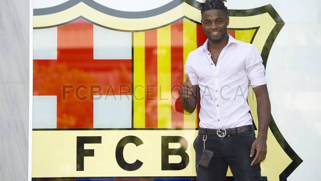Alex Song: First day at FC Barcelona. FOTO: ÀLEX CAPARRÓS-FCB.