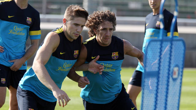 Fontàs and Puyol / PHOTO: MIGUEL RUIZ - FCB