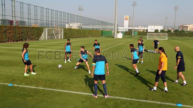 Training session 07/09/12. FOTO: MIGUEL RUIZ-FCB.