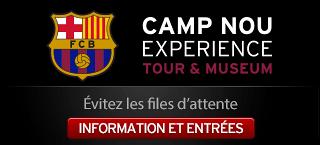 Camp Nou experience. Information et entrées