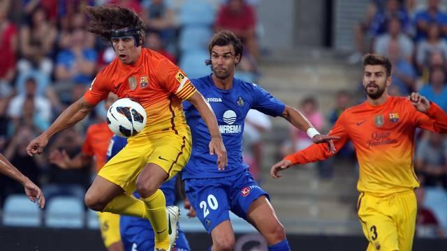 Puyol y Piqué, en Getafe / FOTO: ARCHIVO FCB
