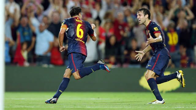 Xavi i Cesc, celebrant l