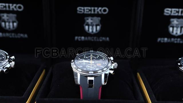 Seiko delivers the official watch Barca first team/ FOTO: MIGUEL RUIZ - FCB