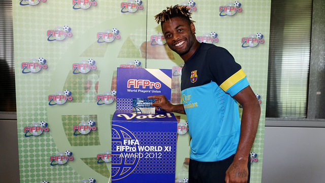 Song voting for the World XI team for FIFA/FIFPro 2012. PHOTO: MIGUEL RUIZ-FCB.