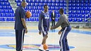 Dallas Mavericks train at the Palau