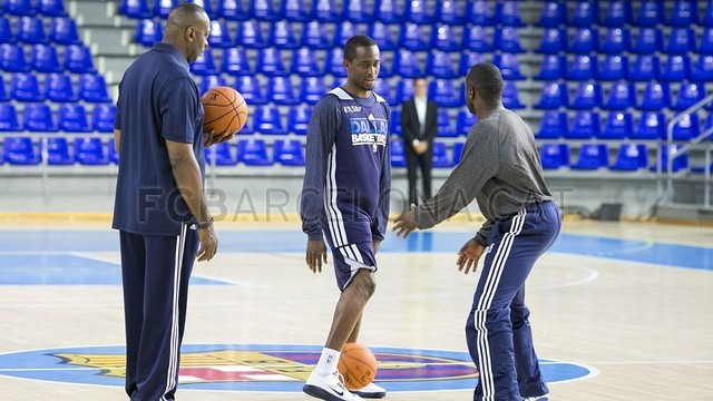 Dallas Mavericks train at the Palau/ PHOTO: GERMAN PARGA - FCB