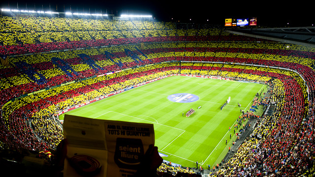 The Camp Nou before the Clásico / PHOTO: ÁLEX CAPARRÓS - FCB