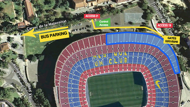 Aerial view of the Camp Nou
