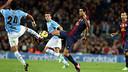 Sergio Busquets against  Celta / FOTO: MIGUEL RUIZ - FCB