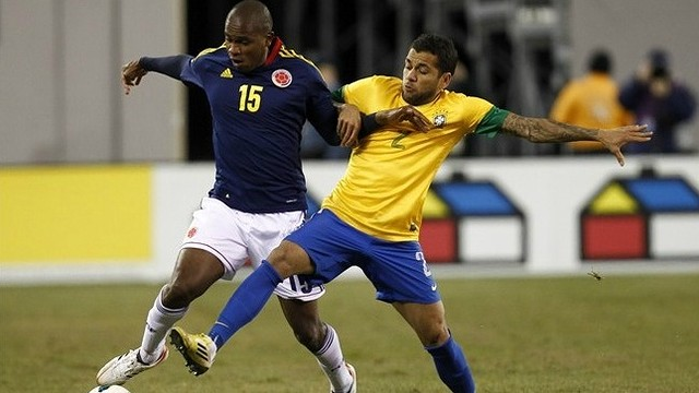 Alves. Brasil-Colmbia in New Jersey. FOTO: fifa.com