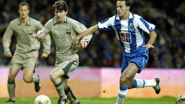 Messi, en el seu debut, el 2003. FOTO: MIGUEL RUIZ-FCB.