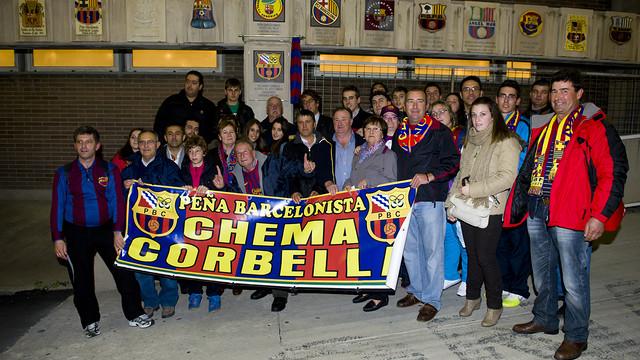Crest inauguration of the PB Chema Corbella Aldehuela del Jerte
