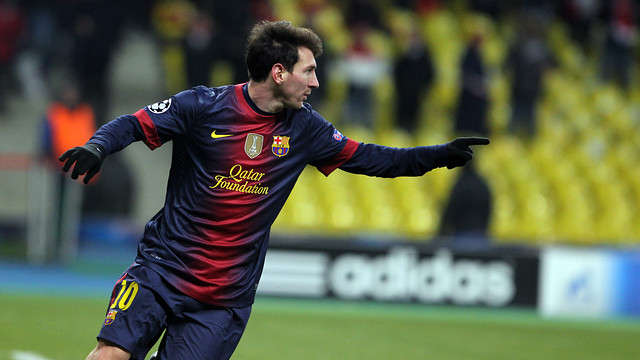Messi, bigolejador a Moscou. FOTO: MIGUEL RUIZ-FCB.